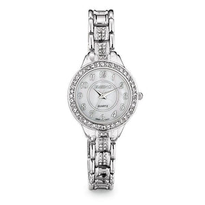 Avon Watch Women's Elgin® II Watch Silver Tone Crystal-infinitote.com