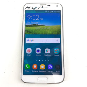 Samsung Galaxy S5 SM-G900W8 16 GB Locked to Rogers Android Smartphone White READ-infinitote.com
