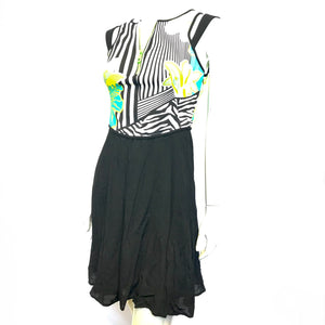 Versace Jeans Sleeveless Summer Dress Front Zipper Sz 6-infinitote.com