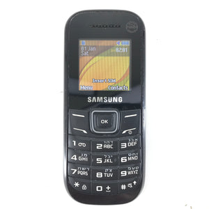 Samsung Keystone 2 GT-E1200M Hebrew Unlocked Cellular Bar Phone Black-infinitote.com