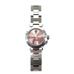 Cartier Pasha C Big Date Stainless Pink Dial Automatic Women's Watch 810494UF-infinitote.com