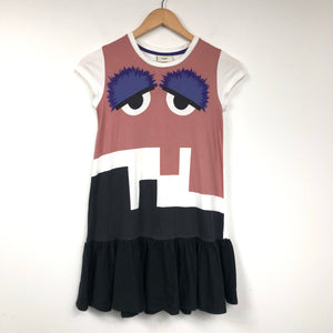 "Authentic FENDI Kids' ""Bag Bug"" Eyes Printed Dress Size 8Y-infinitote.com"
