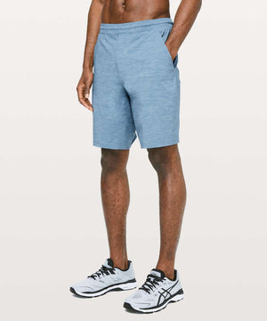 "Lululemon Men's Pace Breaker Short Lined 9"" Heathered Blue Sz S-infinitote.com"