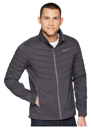 Marmot Men's Featherless Hybrid Jacket Lightweight Gray Sz L-infinitote.com