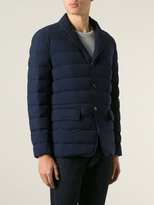 Moncler Men's 'Deydier' Giacca Padded Jacket Navy Blue Sz 3 L-infinitote.com