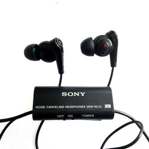 Sony MDR-NC13 In-Ear Only Noise Cancelling Headphones Earphones - Black
