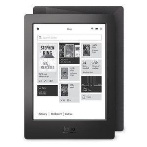 Excellent Condition Kobo Aura H2O 4GB e-Reader, Wi-Fi, 6.8in - BLACK