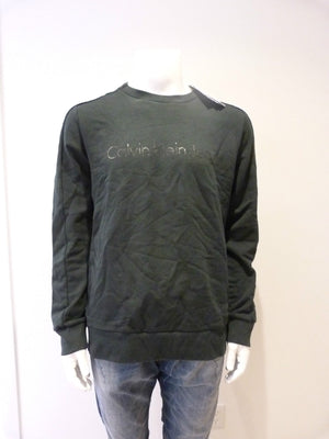 Calvin Klein Jeans Crew Neck Sweater Dark Green Logo - Size XL - New with Tags