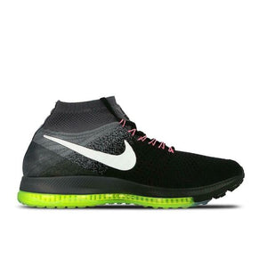 Nike Men's Zoom All Out Flyknit Black White Volt 844134-002 Sz 11-infinitote.com