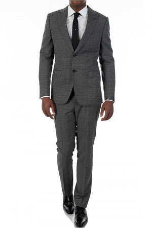 Z Zegna Drop 8 Techno Wool Blend Suit Jacket + Pants Grey Sz 41R-infinitote.com