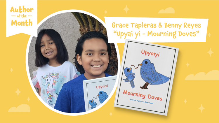 Lulu Junior Author Of The Month - Grace Tapleras and Benny Reyes
