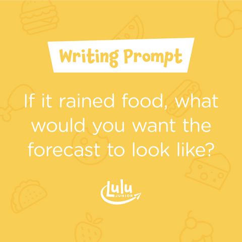 Lulu Junior Writing Prompt Raining Food