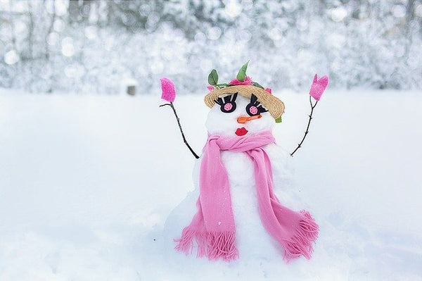 Making a Snowman is a fun family activity. Stock photo from Pixabay