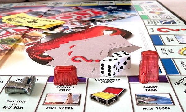 Monopoly Board Game Stock IMage from Pixabay