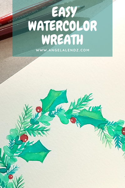 Tutorial: EASY Watercolor Wreath
