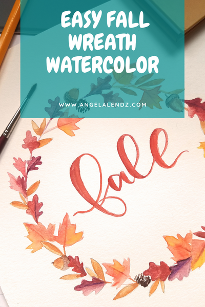 Easy Fall Wreath Watercolor Tutorial