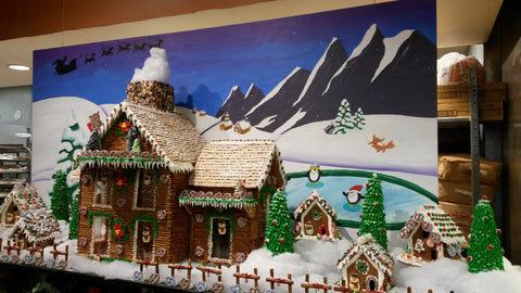 Gingerbread Background Mural Winter Wonderland