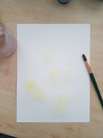 watercolor tutorial prickly pear angelalendz