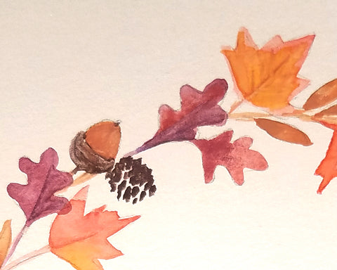 fall leaf painting