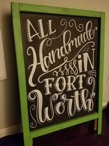 Handmade in Fort Worth Chalkboard