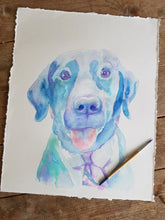 Load image into Gallery viewer, Custom Dog Portrait Watercolor Painting