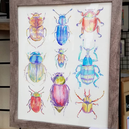 Beetles: Print of my Original Watercolor Painting