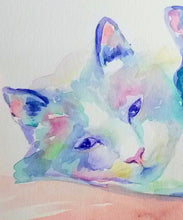Load image into Gallery viewer, Custom Pet Cat Watercolor Painting