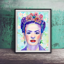 Load image into Gallery viewer, Frida Kahlo: Print of Original Watercolor Painting