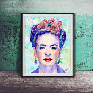 Frida Kahlo: Print of Original Watercolor Painting