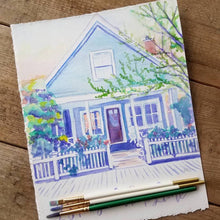 Load image into Gallery viewer, Custom Watercolor Painting of Home, Business, or Scene
