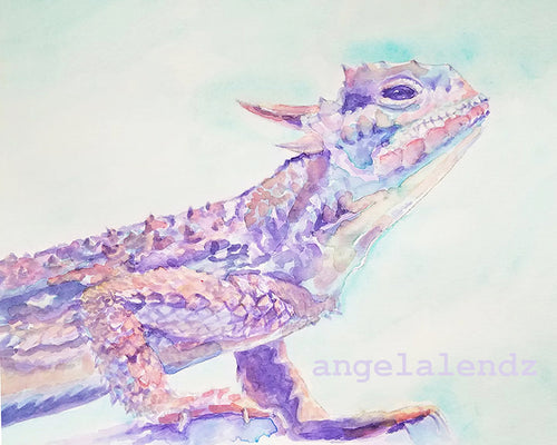 TCU Horned Frog: Print of Original Watercolor