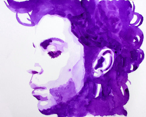 Prince in Purple: Print of my Original Watercolor Painting