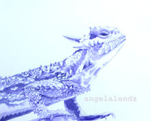 Load image into Gallery viewer, TCU Horned Frog: Purple Print of Original Watercolor Painting