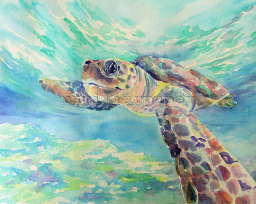 Sea Turtle: Print of my Original Watercolor Painting