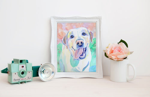 Custom Dog Portrait Watercolor Painting