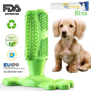 Pet Dog Toothbrush Chew Toy Doggy Brush Stick Soft Rubber Teeth Cleaning Dot Massage Toothpaste for Small dogs Pets Toothbrushes - dog lovers