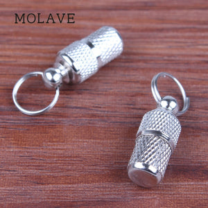 MOLAVE Silver Pet Dog Cat Address Label Barrel Storage Identification Tube ID Tags 1PC 24x10mm - dog lovers