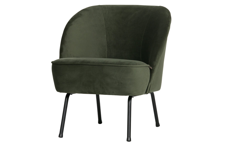 Vogue Armchair in Velvet Onyx