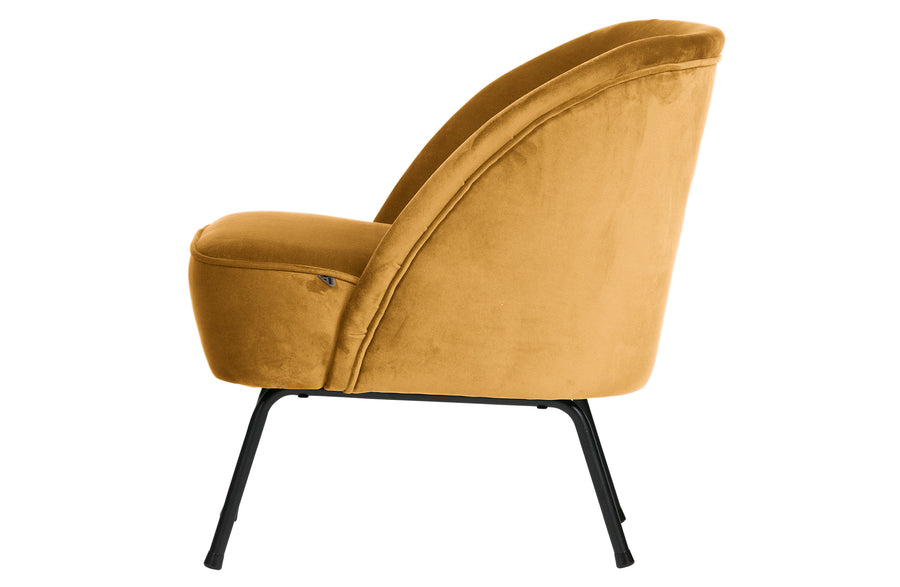 Vogue Armchair in Velvet Mustard