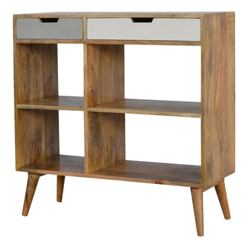 mango wood shelving unit