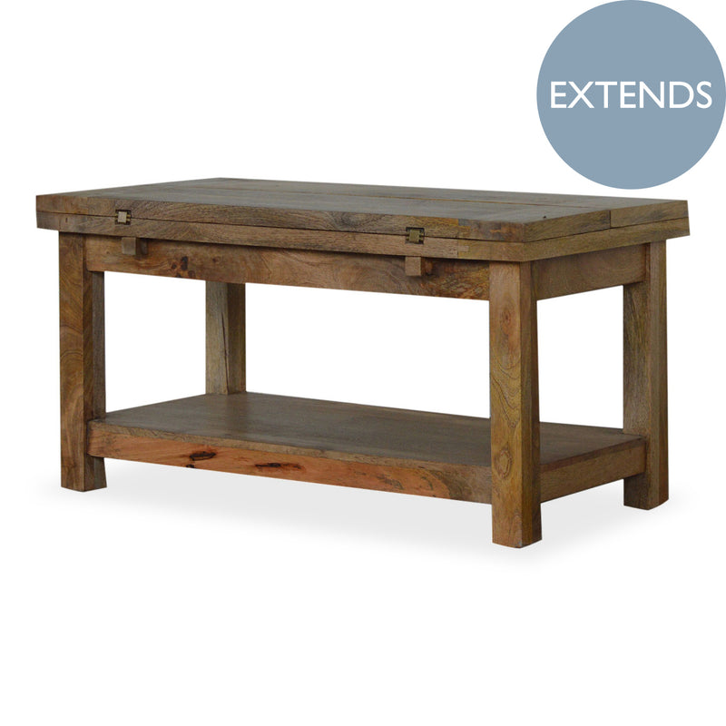 Handmade Mango Wood Extendable Coffee Table