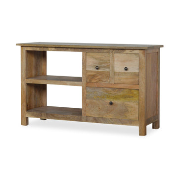 Tall Wood TV Stand
