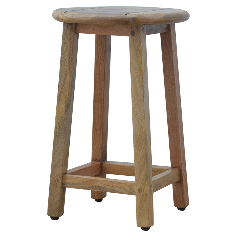 Metal and Wood Extendable Kitchen Table with two stools