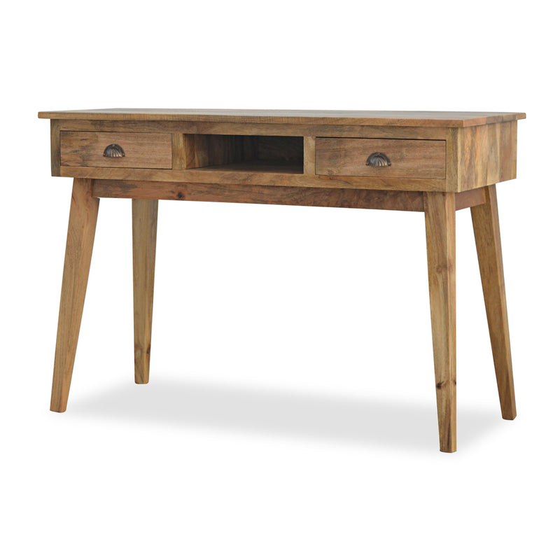 Solid Wood Desk with Drawers