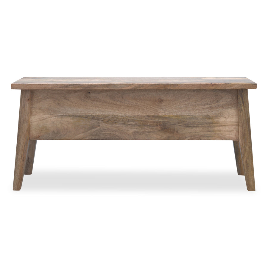 Solid Wood Dining Bench with Storage
