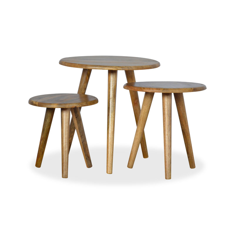 Wood Side Table Set