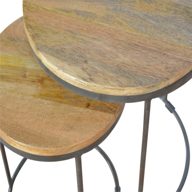 industiral style side table set