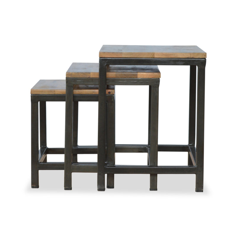 industrial style side table set