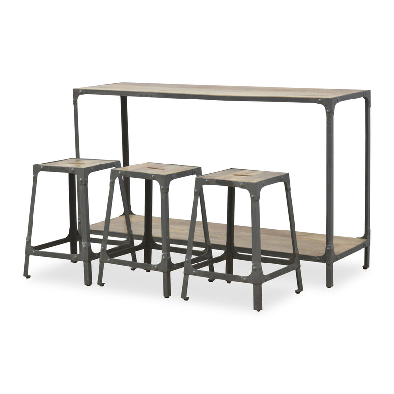 Industrial Style Metal and Wood Kitchen Table