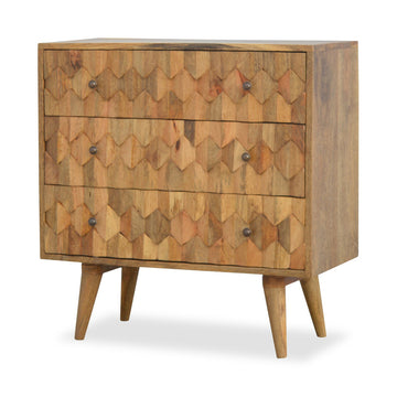 handmade mango wood chest of drawers